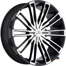 Kraze Wheels - Kraze-312 Inspire - Machined w/ Black