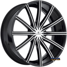 Kraze Wheels - Kraze-724 Passion - Machined w/ Black