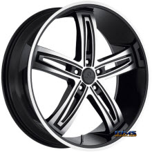 Kraze Wheels - Kraze-412 Ravish - Machined w/ Black