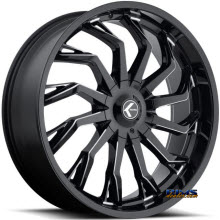 Kraze Wheels - Kraze-142 Scrilla - black flat w/ machined
