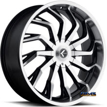 Kraze Wheels - Kraze-142 Scrilla - Machined w/ Black