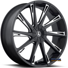 Kraze Wheels - Kraze-144 Swagg - black flat w/ machined