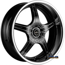 FK ETHOS WHEELS - LX-55 - black flat