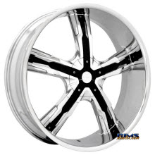 MASSIV WHEELS - 917 TUSK with black inserts - Chrome