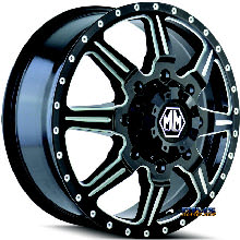 Mayhem Off-road - MONSTIR 8101 - black flat w/ machined