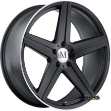 MANDRUS - ESTRELLA - MATTE BLACK W/MACHINE LIP EDGE - BLACK FLAT