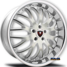 MERCELI WHEELS - M11 - Chrome Lip - machined w/ white