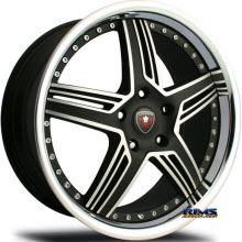 MERCELI WHEELS - M13 - Chrome Lip - machined w/ black