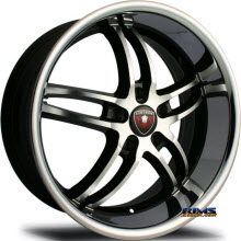 MERCELI WHEELS - M16 - Chrome Lip - black w/ chrome lip