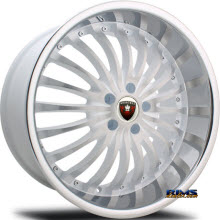 MERCELI WHEELS - M20 - Chrome Lip - machined w/ white