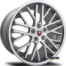 MERCELI WHEELS - M45 - Chrome Lip - machined w/ white