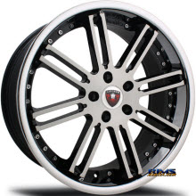 MERCELI WHEELS - M48 - Chrome Lip - machined w/ black
