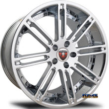 MERCELI WHEELS - M48 - Chrome Lip - machined w/ silver