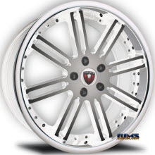 MERCELI WHEELS - M48 - Chrome Lip - machined w/ white