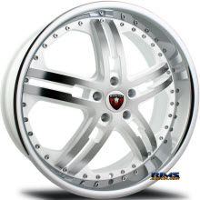 MERCELI WHEELS - M6 - Chrome Lip - machined w/ white