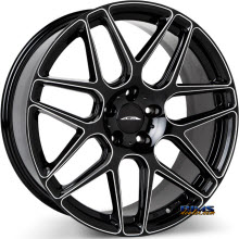 ACE ALLOY - MESH-7 D707 - Black Milled