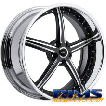 MHT Forged - STILLETO (5-LUG) - machined w/ black