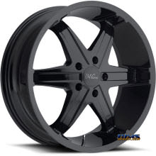Vision Wheel - Milanni Kool Whip 6 446 - black gloss