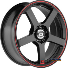 Motegi Racing - MR116 - Black Gloss w/ Red