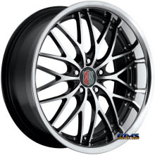 Roderick Luxury Wheels - RW-1 (Chrome Lip) - machined w/ black