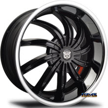 MERCELI WHEELS - 802 - Chrome Lip - black w/ chrome lip