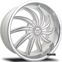 MERCELI WHEELS - 802 - Chrome Lip - machined w/ white