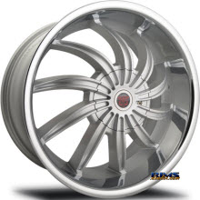 MERCELI WHEELS - 802 - silver w/ chrome lip