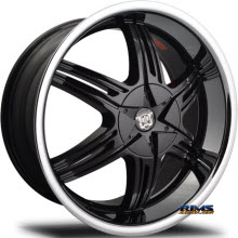 MERCELI WHEELS - 821 - Chrome Lip - black w/ chrome lip