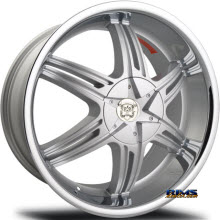MERCELI WHEELS - 821 - silver w/ chrome lip