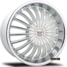 MERCELI WHEELS - 826 - Chrome Lip - machined w/ white