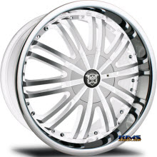 MERCELI WHEELS - 838 - Chrome Lip - machined w/ white