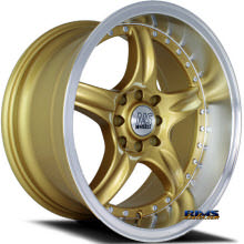 NS Drift Wheels - DC01 - Machined w/ Gold