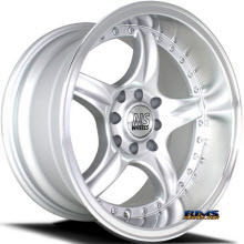 NS Drift Wheels - DC01 - Machined w/ Silver