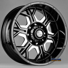 FK ETHOS WHEELS - ORC-952 - black flat w/ machined