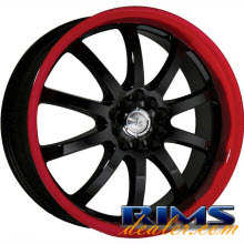 Raze Wheels - R51 - black w/ stripe