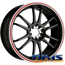 Raze Wheels - R84 - black w/ stripe