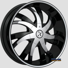 ROCK-N-STARR WHEELS - 964 POISON - Black Flat