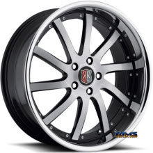 Roderick Luxury Wheels - RW4 - black w/ chrome lip