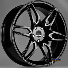 FK ETHOS WHEELS - RT-6 - black flat w/ machined