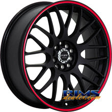 Ruff Racing - R355 - black machined w/ red stripe