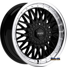 RUFF RACING - R957 - Black Gloss w/ Machined