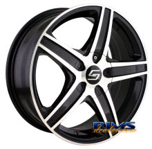 Sacchi Custom Wheels - S48 - machined w/ black