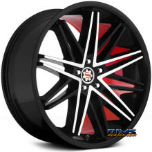 SCARLET - SW1-M - black machined w/ red inner