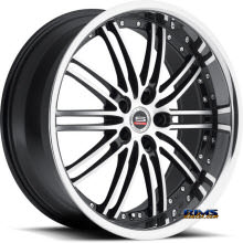 Spec 1 Wheels - SP-7 - black gloss w/ machined
