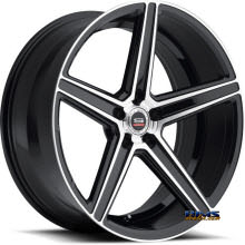 Spec 1 Wheels - SP-8 - black gloss w/ machined