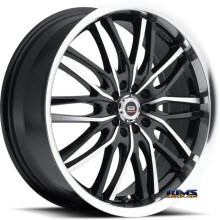 Spec 1 Wheels - SP- 16 - black gloss w/ machined