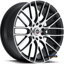 Spec 1 Wheels - SP- 20 - black gloss w/ machined