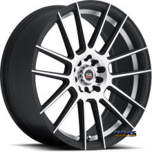 Spec 1 Wheels - SP- 21 - black flat w/ machined