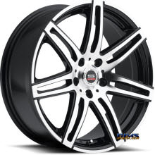 Spec 1 Wheels - SP- 24 - black gloss w/ machined