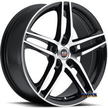 Spec 1 Wheels - SP- 25 - black gloss w/ machined